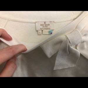 kate spade Sweaters - kate spade white short sleeve bow sweater